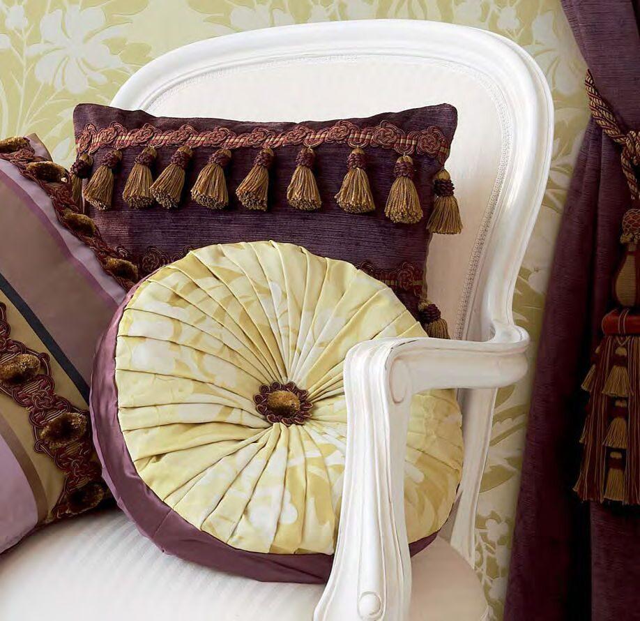 Как сшить подушку с бахромой 76